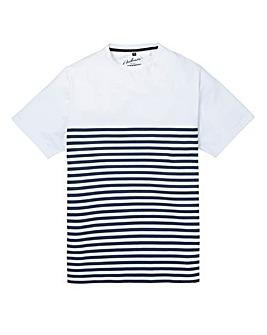 Jacamo Cardiff Stripe T-Shirt Reg