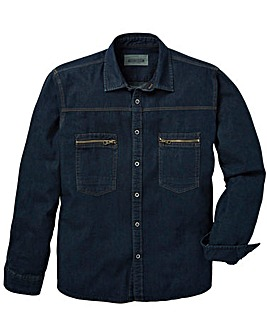 Jacamo Dawson L/S Denim Shirt Long