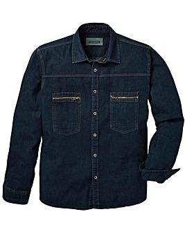 Jacamo Dawson L/S Denim Shirt Reg