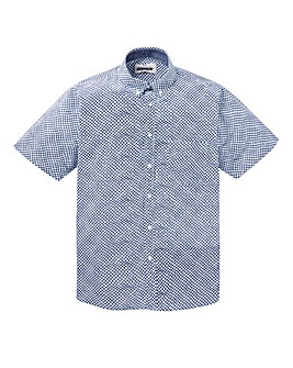 Jacamo Clio S/S Check Print Shirt Long