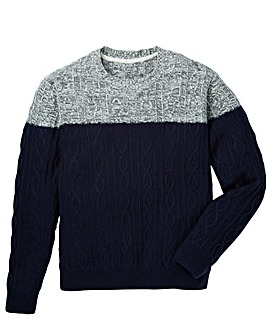 Jacamo Elkmont Colour Block Jumper