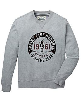 Jacamo Duncan Crew Neck Sweatshirt Long