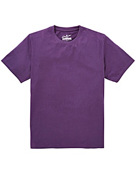 Jacamo Dallas Purple Basic Crew Tee Reg