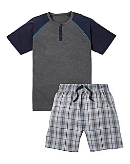 Southbay Check Shorts Pyjama Set