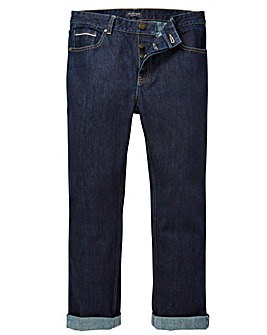 Flintoff By Jacamo Selvedge Jeans 29in