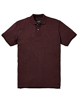 Flintoff By Jacamo Polka Dot Polo Reg