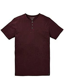 Flintoff by Jacamo Grandad T-Shirt Long