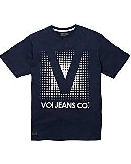 Voi Prints Navy T-Shirt Regular