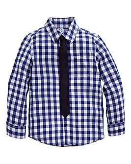KD BABY Boys Check Shirt with Tie