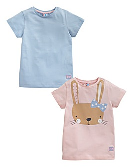 KD MINI Girls Pack of Two Tops (2-6 yrs)