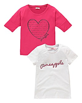 Pineapple Pack of Two T-shirts (7-13yrs)