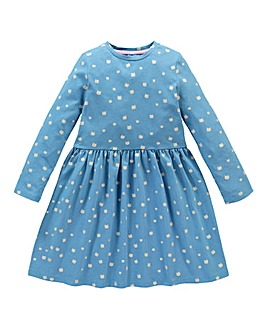 KD MINI Girls Cat Print Skater Dress