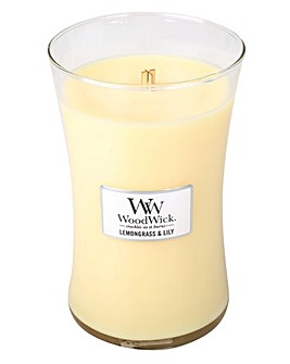 WoodWick Lemongrass And Lily Large Jar