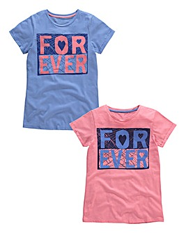 KD EDGE Girls Pk 2 T-Shirts (7-13yrs)