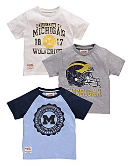 Pk of 3 T-Shirts (2-13+ years)