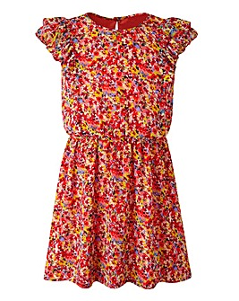 KD EDGE Floral Print Dress (8-13 yrs)