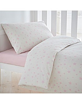 Printed Stars Cot Bed Duvet Cover