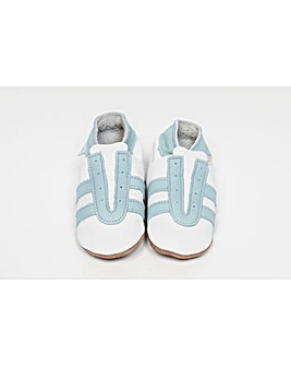 Hippychick Baby Shoes White/Blue Trainer