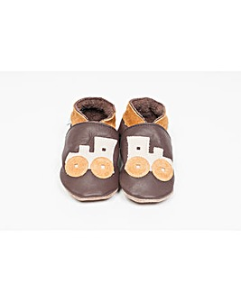 Hippychick Baby Shoes Chocolate Trains