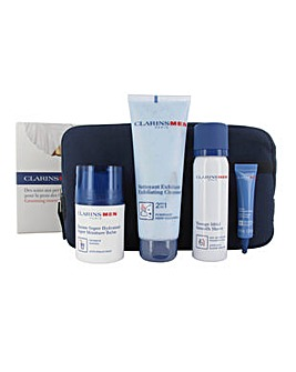 Clarins Men Balm,Shave,Serum Set