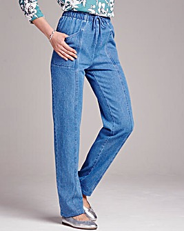 Comfort Fit Jeans Length 27in