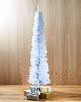 White Pencil Tree with Iridescent Tips