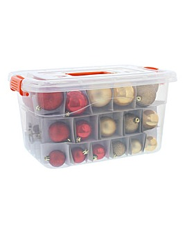 Red & Gold 70 Piece Mixed Bauble Pack