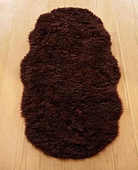 Faux Fur Shaggy Shaped Rug