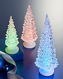 Set of 3 LED Colour Changing Trees