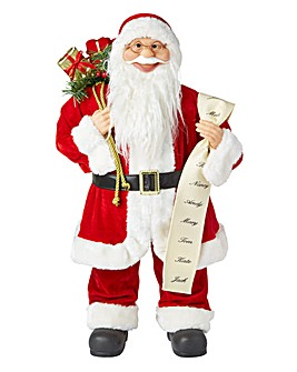 Traditional Santa with Christmas List