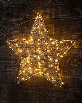 3D Star with Copper Wire Lights