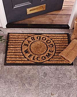 Welcome & Goodbye Coir Doormat