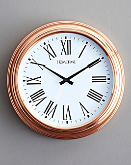 Metal Copper Wall Clock