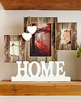Rustic Bark HOME photo Frame
