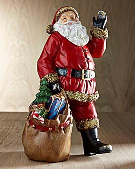 Traditional Waving Santa Decoration