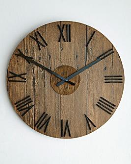 Rustic Wooden Wall Clock