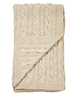 Chunky Knit 100% Cotton Throw