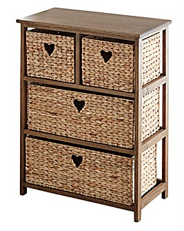 Hyacinth Hearts 2+2 Drawer unit