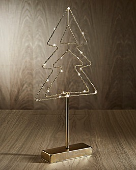 Gold Christmas Tree Light