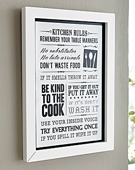Kitchen Rules Framed Print