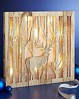 Holographic Stag in Forest Scene