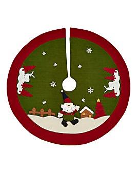 Santa Clause Tree Skirt