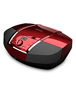 JDW CD Boombox with Bluetooth - Red
