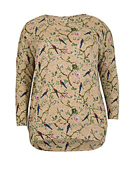 Samya Floral Swallow Print Top