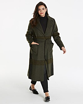 Helene Berman Check Wrap Coat