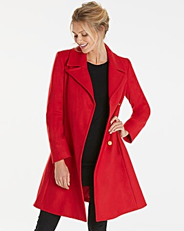 Helene Berman Asym Button Front Coat