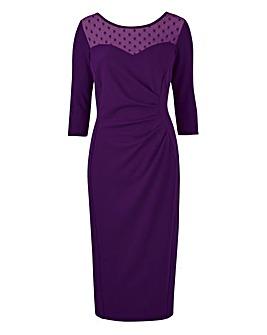 Scarlet & Jo Dobby Bodycon Dress