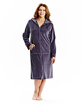 Pretty Secrets Velour Zip Gown 44in