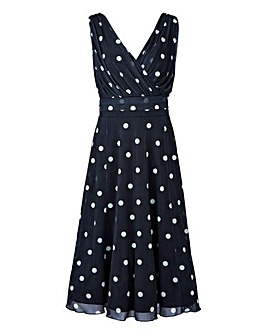 Scralett & Jo Polka Dot Mesh Dress