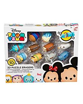 Disney Tsum Tsum Puzzle Erasers 10pc